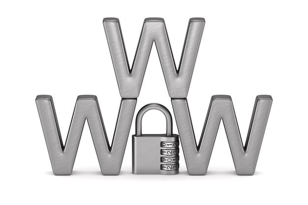 Veiligheid internet. geïsoleerde 3d-weergave