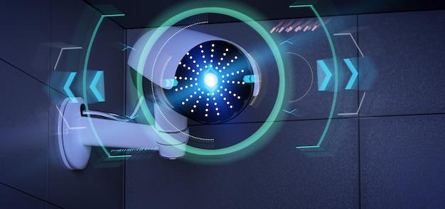 Veiligheidscamera die een ontdekt binnendringen - het 3d teruggeven richten