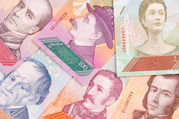 Venezolaanse bolivares, een zakelijke achtergrond
