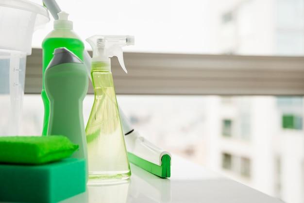 Venster schoonmakende concept