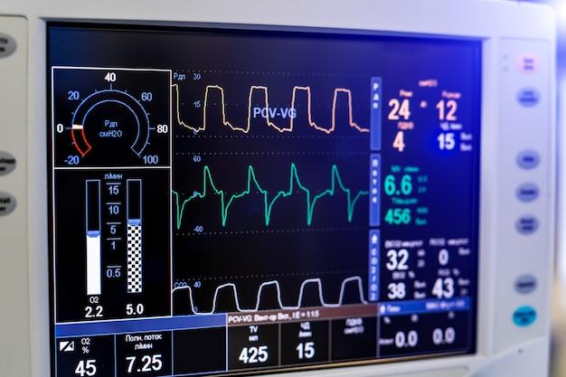 Ventilatie van de longen met zuurstof. covid-19 en coronavirus identificatie. longontsteking diagnosticeren. pandemie.