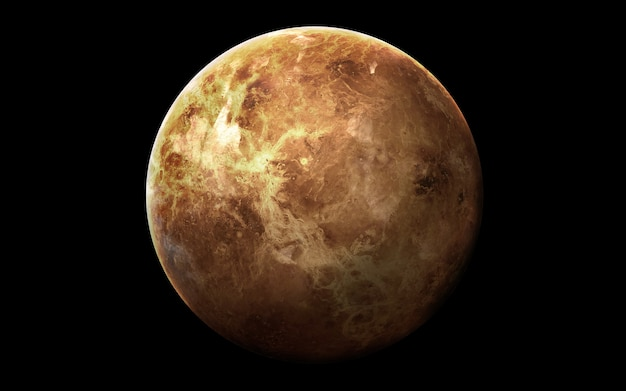 Venus in de ruimte, 3d illustratie. .