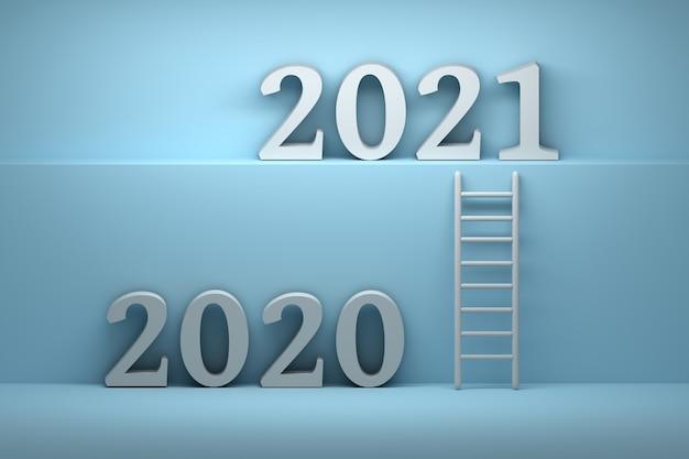 Ver weg van 2020 jaar tot 2021 jaar