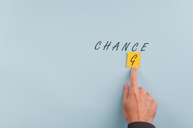 Verander het creëren van kans