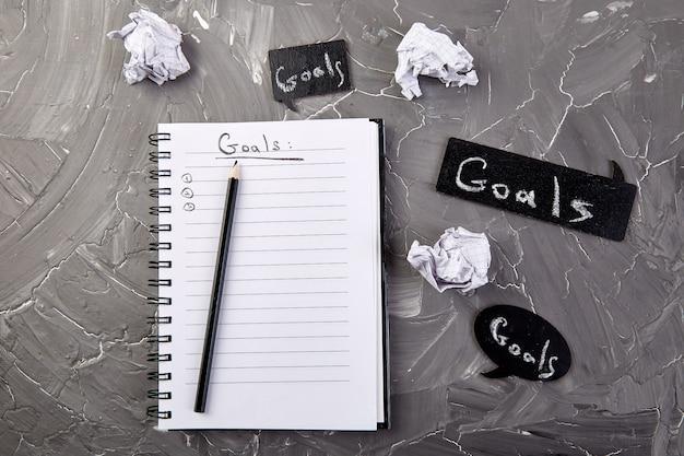 Verander uw mentaliteit, zakelijke motiverende inspirerende, doelen