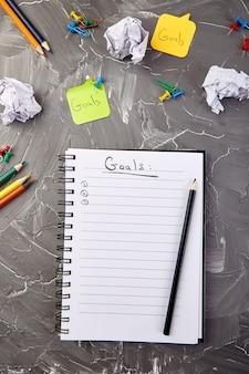 Verander uw mentaliteit, zakelijke motiverende inspirerende doelen
