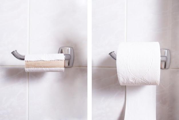 Veranderende wc-papier, twee uitzicht