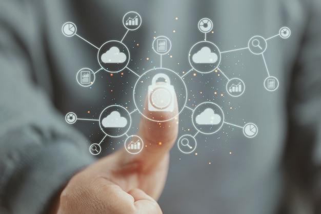 Verandermanagement voor digitale transformatie. bigdata op het gebied van beveiligingstechnologie en bedrijfsprocesstrategie, beheer van cloudcomputing, slimme stad en internet der dingen