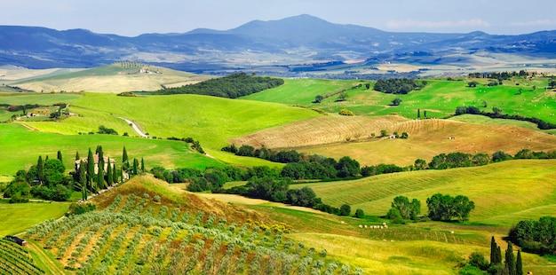 Verbazingwekkende landschappen van toscane