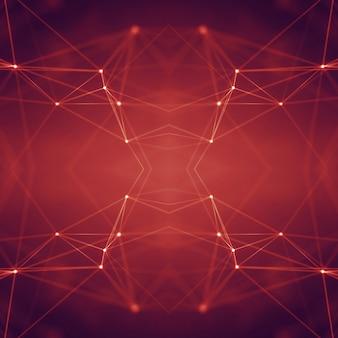 Verbindende punten en lijnen. informatietechnologie geometrische gegevens