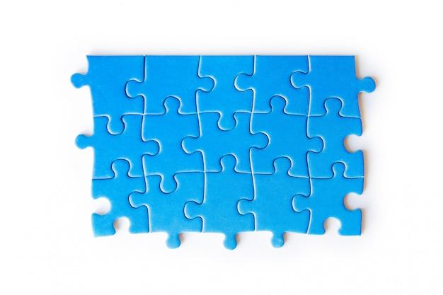 Verbindingsstukpuzzel, zaken, succes en strategie, onderwijs, de maatschappij en thee