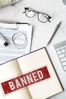 Verboden geweigerd afgewezen negatief stempelconcept