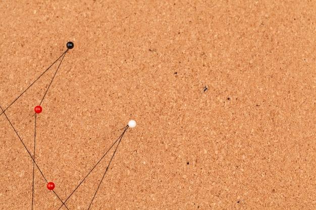 Verbonden pinnen die een netwerkachtergrond creëren