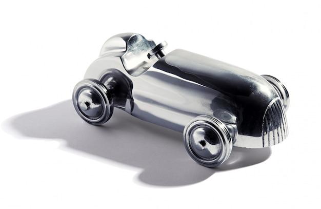 Verchroomde vintage speelgoedauto