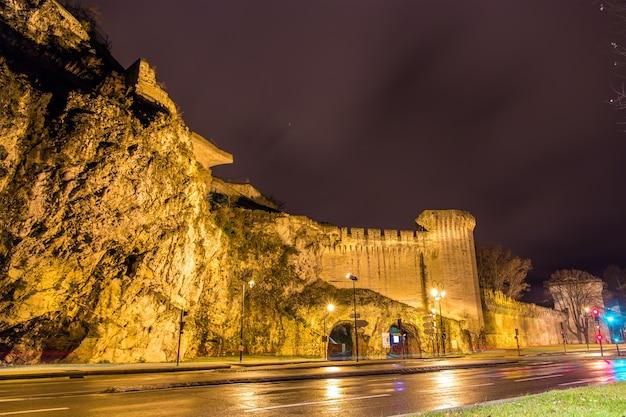 Verdedigingsmuren van het unesco-erfgoed van avignon in frankrijk