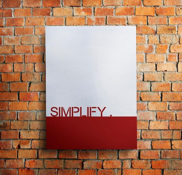 Vereenvoudig eenvoud verduidelijk gemak minimaal concept