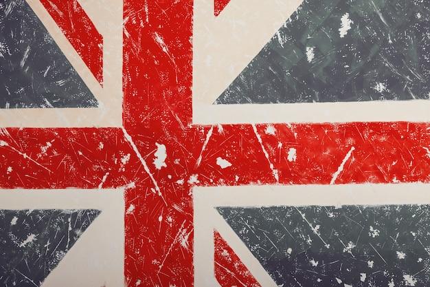 Verenigd koninkrijk een vlag met een vintage en oude achtergrond kan worden gebruikt als dekmantel voor behang