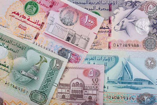 Verenigde arabische emiraten dirham, een zakelijke achtergrond