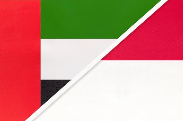 Verenigde arabische emiraten en monaco, symbool van nationale vlaggen