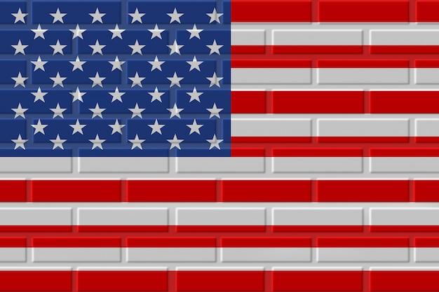 Verenigde staten baksteen vlag illustratie
