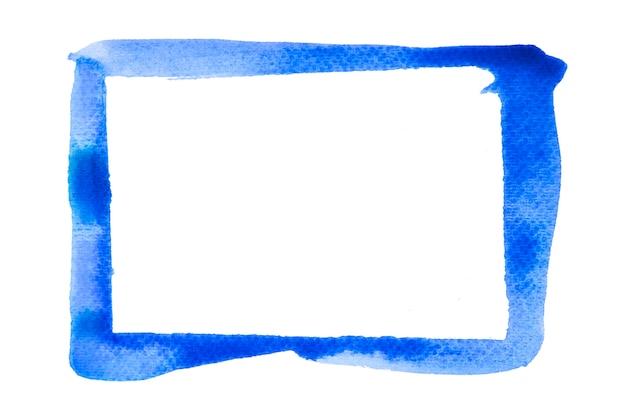 Verf blauwe lijnen penseelstreek kleur frame