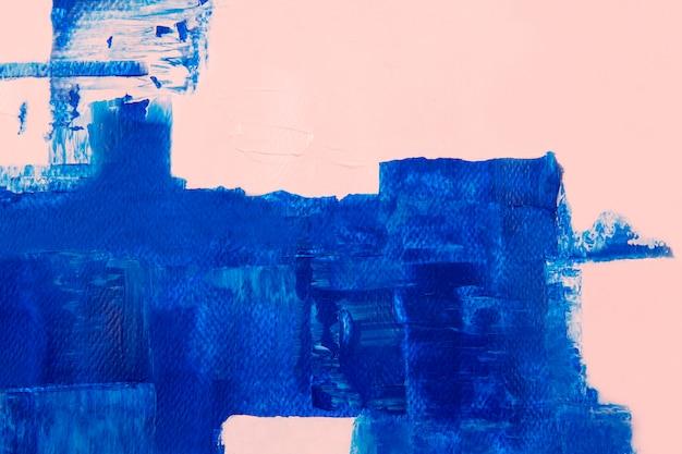 Verf grens achtergrond, blauwe penseelstreek textuur behang