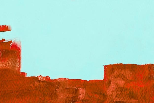 Verf grens achtergrond, bruine penseelstreek textuur behang