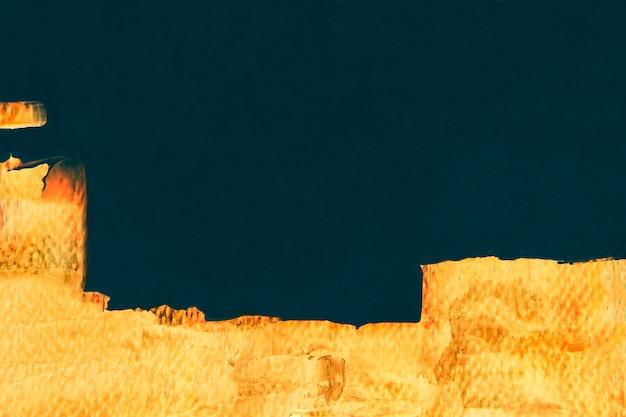 Verf grens achtergrond, gele penseelstreek textuur behang