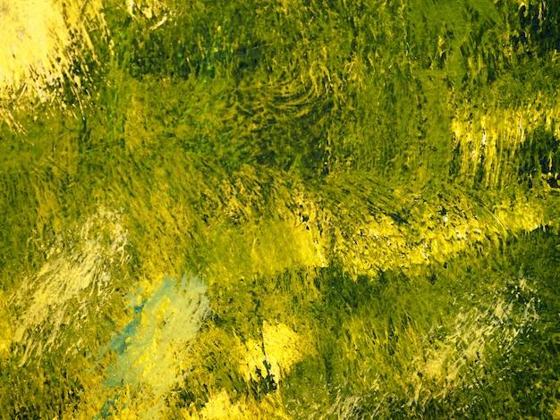 Verf penseelstreek olieverf goud kleurrijk