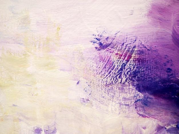 Verf penseelstreek olieverfschilderij paars kleurrijk