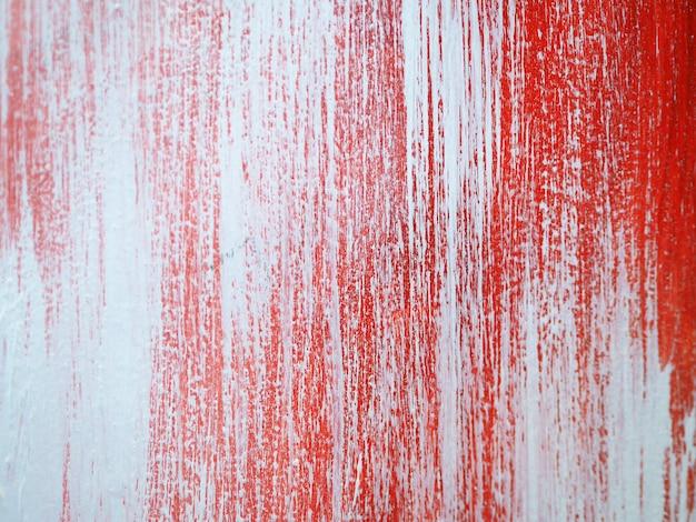 Verf penseelstreek olieverfschilderij rood kleurrijk