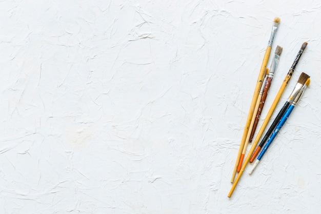 Verf penselen bovenaanzicht