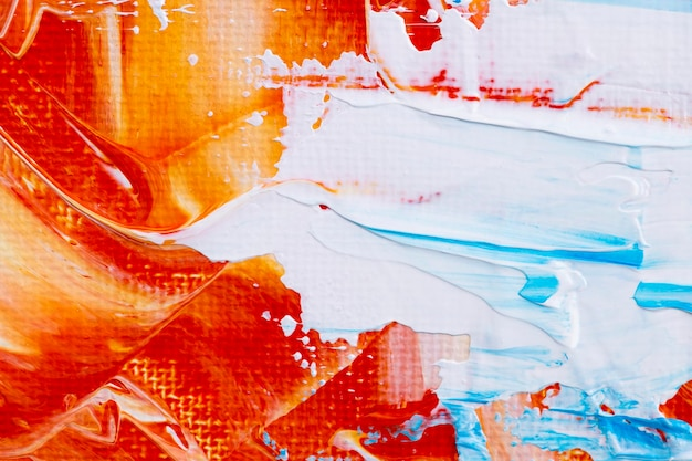 Verf smudge gestructureerde achtergrond in oranje abstracte stijl creatieve kunst