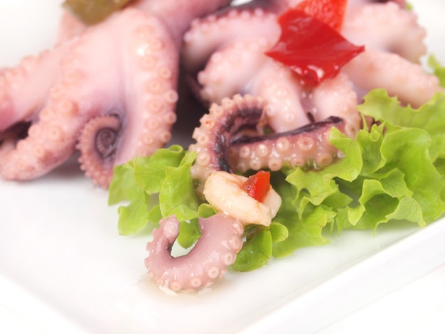 Verfijnde octopusschotel