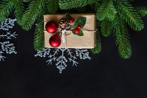 Verfraaid het huisthema van het kerstmiskader achtergrond.