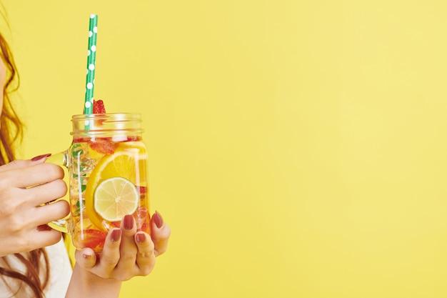 Verfrissend drankje bij warm weer