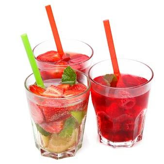 Verfrissend drankje met aardbeien