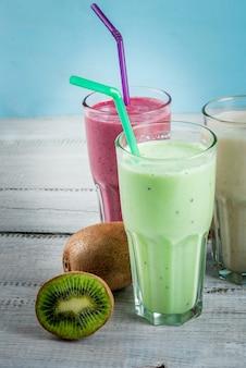 Verfrissende milkshakes of smoothies