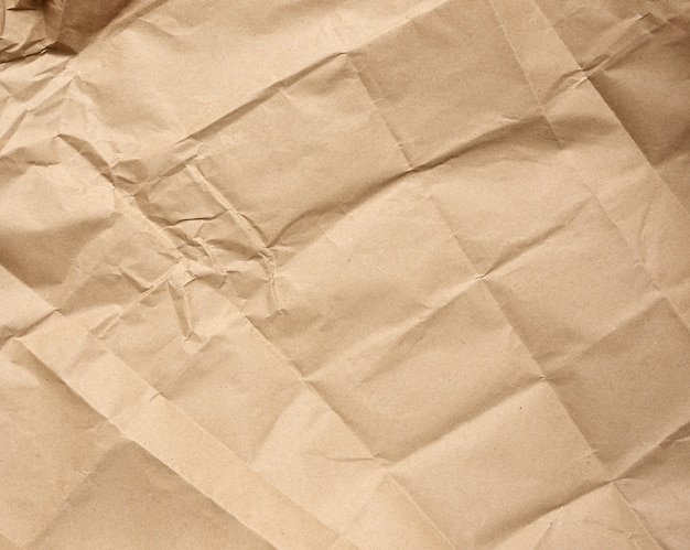 Verfrommeld blanco vel bruin kraftpapier inpakpapier