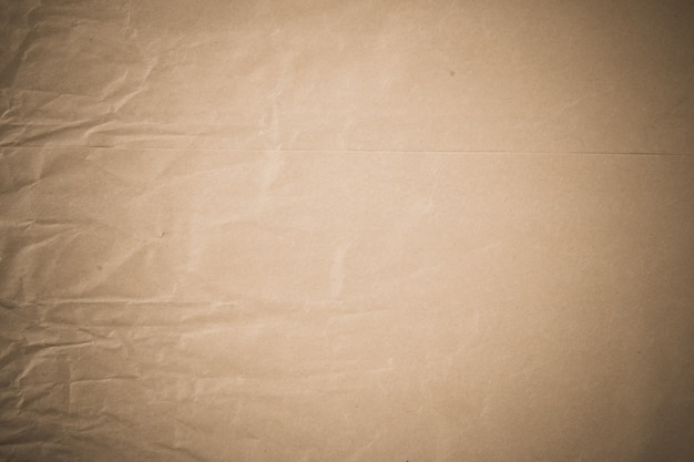 Verfrommeld bruin papier textuur oppervlak.