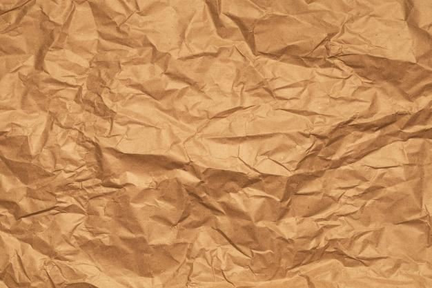 Verfrommeld inpakpapier achtergrond. horizontale banner. hoge kwaliteit foto