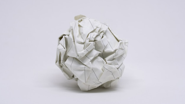 Verfrommeld papier bal