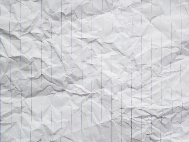 Verfrommeld wit papier, vuile blad brief textuur
