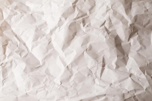 Verfrommeld witboek achtergrond. bovenaanzicht.