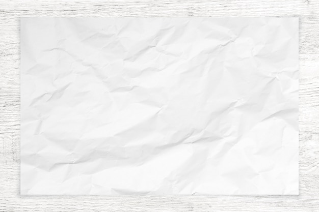 Verfrommelde document textuur op hout.