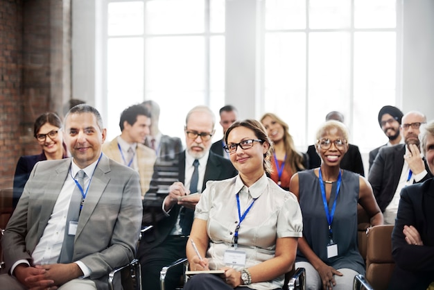 Vergadering seminar conferentie publiek trainingsconcept