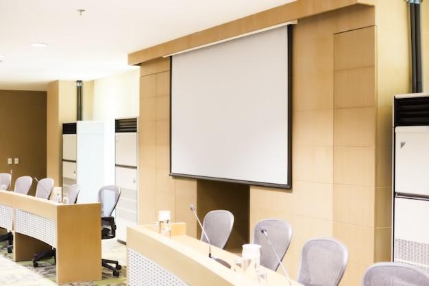 Vergaderruimte voor een conferentie.
