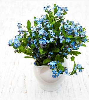 Vergeet me niet bloemen