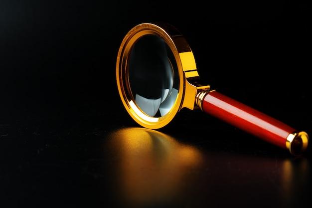 Vergrootglas close-up