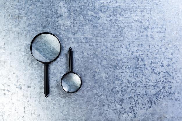 Vergrootglas. concept van zoeken